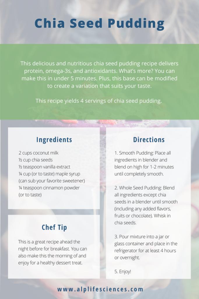 omega 3 chia seed pudding